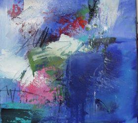 Komposition Blau