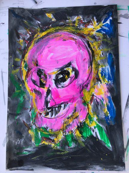 pink Kopf