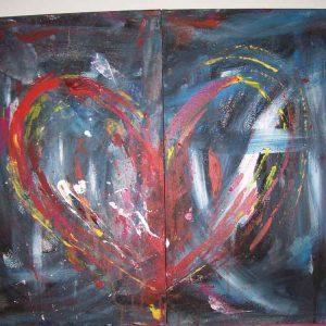 Herz 2-teilig