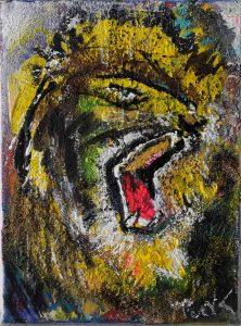 schreiender Löwe